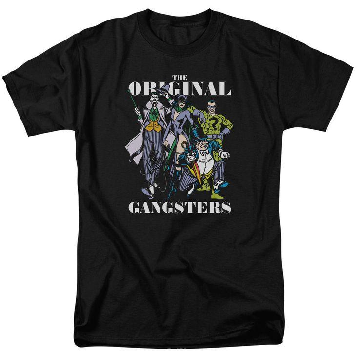 DC Comics Original Gangsters Joker Catwoman Riddler Penguin - Adult T-Shirt - Bl #Other #GraphicTee