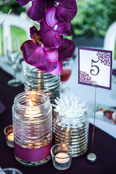 Fun floral table numbers   Wedding Table Decor Ideas   Evelyn Ford Photography