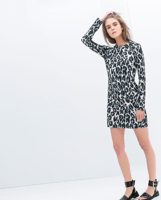 Image 3 of LEOPARD PRINT DRESS from Zara
