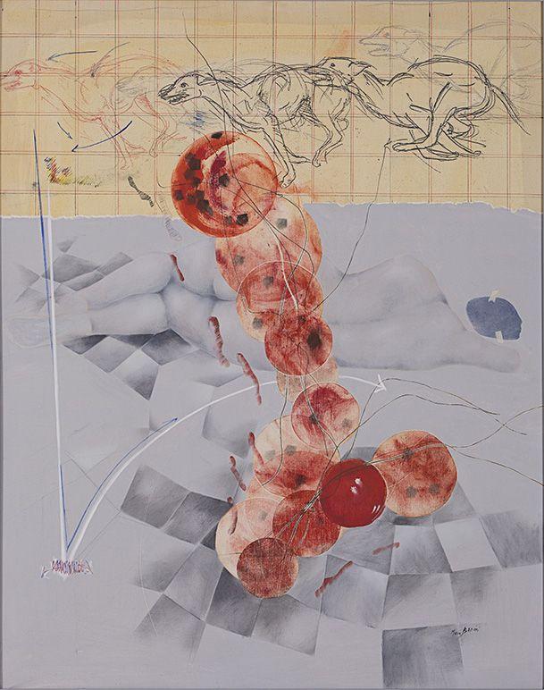 La palla rosan, 92 x 73 cm.  Mario Bedeni