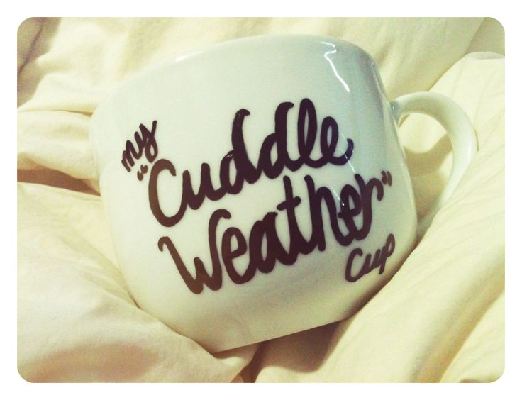 My cuddle weather cup. Cute gift idea