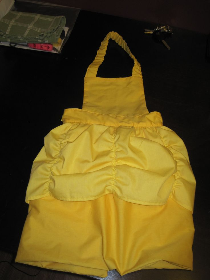Belle Inspired Dress-Up Apron Tutorial