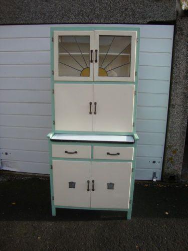 Vintage retro kitchenette larder kitchen cabinet for Kitchenette cupboard