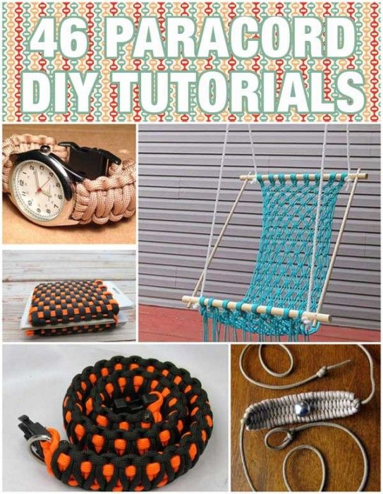 46 Paracord Project DIY Tutorials - Have you tried Paracord projects? You're going to smile when you realize just how many different types of DIY projects you can create with this material. From something for the family pet to jewelry for your teen to a keychain for everyone in the household – just to name a few of the fun projects we've found for you. From http://bigdiyideas.com