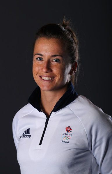 A portrait of Maddie Hinch a member of the Great Britain Olympic team during…