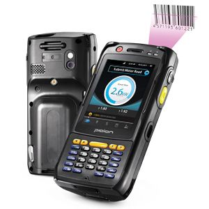 BIP-6000 RFID reader handheld computer back