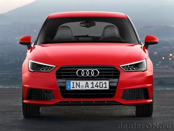 Хэтчбек Ауди А1 2015 / Audi A1 2015 - вид спереди