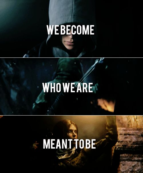 Lara Croft: We become who we are meant to be. #tombraider
