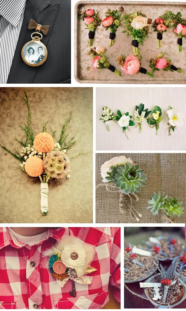 Hey Look: WEDDING INSPIRATION: BOUTONNIERE IDEAS