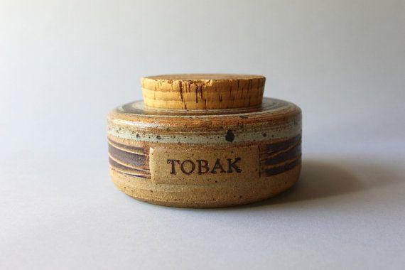 Tue Poulsen Tobak Jar / Danish Mid Century by HolliePoint on Etsy