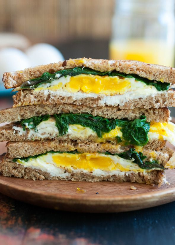 Eggs, Greens and Goat Cheese Sandwich | Nutritious Eats