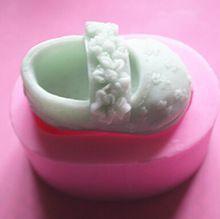 Bebê sapatos em forma de molde de Silicone bolo molde decoração Fondant bolo 3D Food Grade Silicone Mould(China (Mainland))