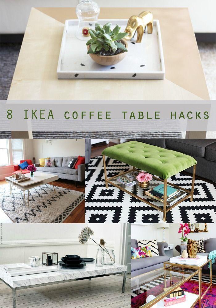 8 Unique IKEA Coffee Table Hacks Ikea TableLiving Room