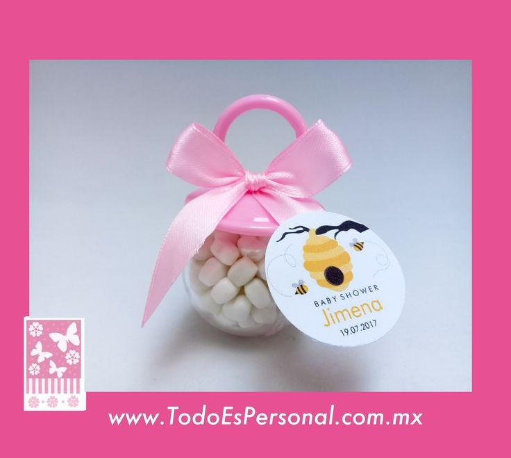chupon dulcero dulces baby shower abejas abejitas liston rosa detalles eventos premio emarazo bebe original nacimiento bolo de moda