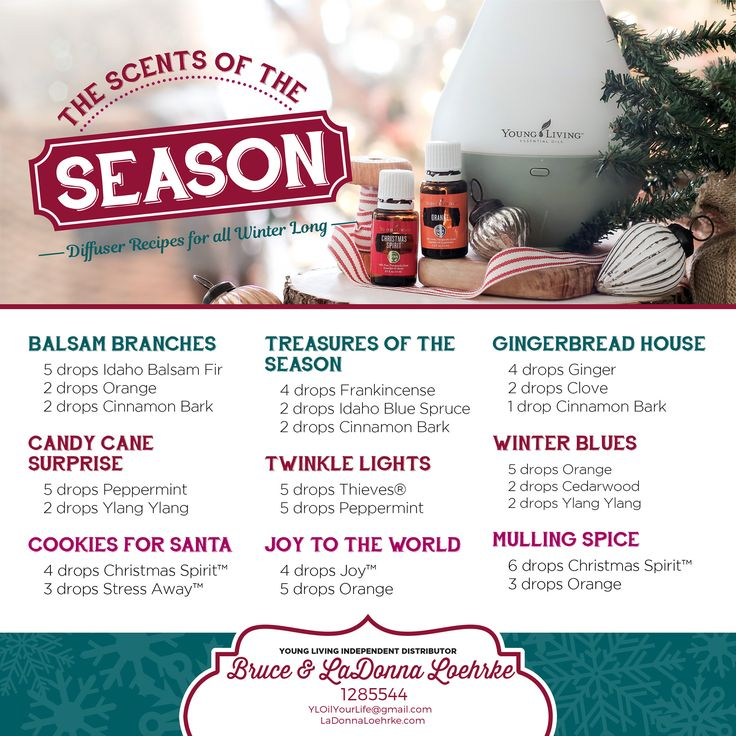 Holiday Make-n-Take Gift idea ~ Diffuser Recipes for all Winter with YL essential oils! I have Candy Cane Surprise diffusing in my home office right now and it smells wonderful in here!  #YL #EssentialOils #MakeNTake #GiftIdeas #Wellness #diffuser #smell #uplifting #mood #tistheseason #winterblues #Santa #cookies #season #GingerbreadHouse #JoyToTheWorld #home #office Become a wholesale member at www.LaDonnaLoehrke.com