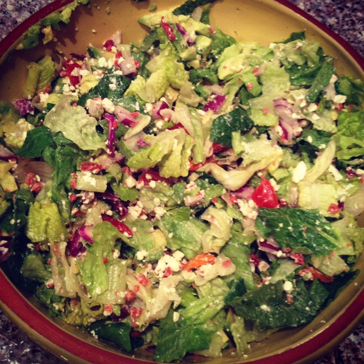 Eating Clean and Saving Green: Eating Clean Day 7--Maggiano's Chopped Salad and Homemade Breadsticks