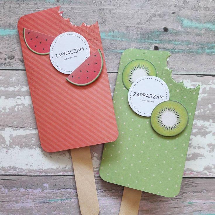 Dziś na blogu fit lody!  #fit #lodka #fit lody #icecream #papericecream #zaproszenia #urodziny  #cardmaking ☺