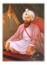 Guru Har Rai was born on January 16, 1630 in Kiratpur to Baba Gurditta the eldest son of Guru Hargobind. From a very young age he exhibited a sensitivity to all living things and endeared himself to his grandfather Guru Hargobind. One day while young Har Rai was returning home he got off his horse upon seeing Guru Hargobind and in his hurry his robe got caught in a bush and some flowers were broken from their stems. It is said that it pained Har Rai's heart so much that he started crying.