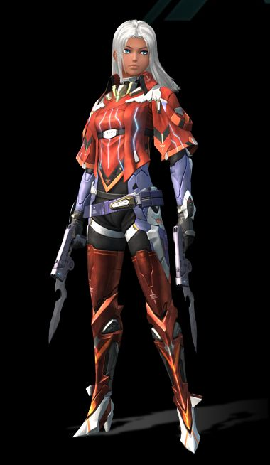 Elma - Xenoblade Chronicles X; The team leader of a private military organization, known as BLADE. She's calm and composed, and has a keen sense of judgment and insight. She's well-respected by the members of BLADE.