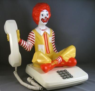 Ronald McDonald Novelty Character Phone - Sitting