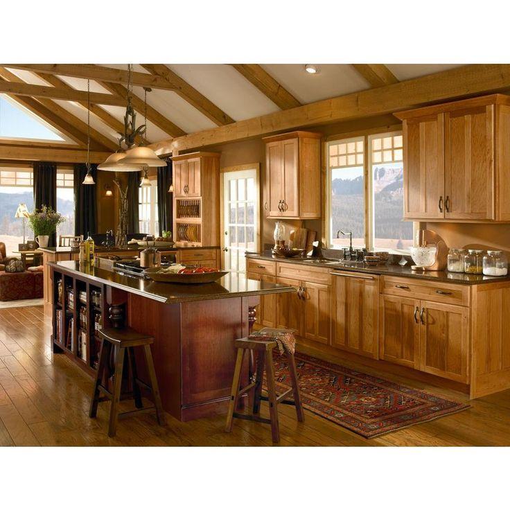 15x15 in Cabinet Door Sample in Hamilton Hickory in Honey Spice - landhauskchen mediterran