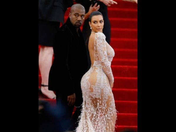 NEW YORK, NY - MAY 04:  Kanye West and Kim Kardashian  attend China: Through The Looking Glass