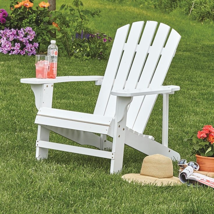 Classic White Painted Wood Adirondack Chair, Model 4610 | www.kotulas.com | Free Shipping