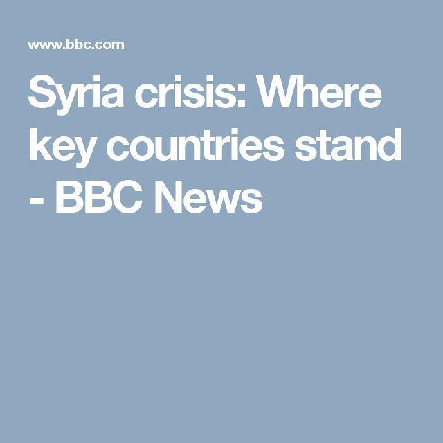 Syria crisis: Where key countries stand - BBC News  I chose this article because it is from a reputed source (BBC). And although it is an older article - published in 2015 - it gives an insight in to the role of governments apart from that of Syria in the Syrian war.