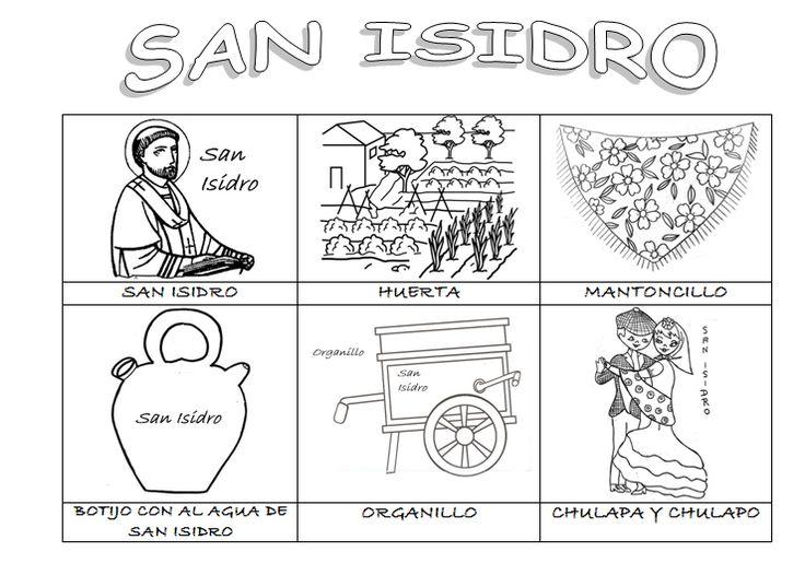 Dibujos Para Colorear Fiesta San Isidro