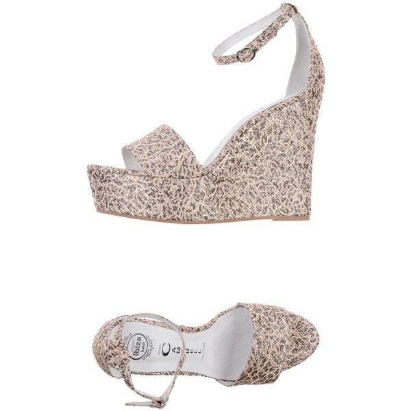 Jeffrey Campbell Sandals ($46) ❤ liked on Polyvore featuring shoes, sandals, sand, wedge heel shoes, ankle tie sandals, print shoes, wedge sandals and ankle wrap wedge sandals
