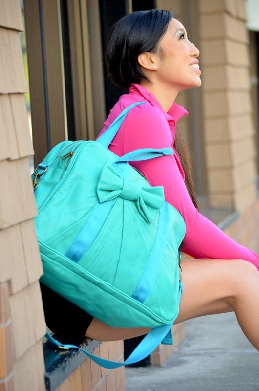 Super cute gym bag from Ogorgeous (Blogilates shop)