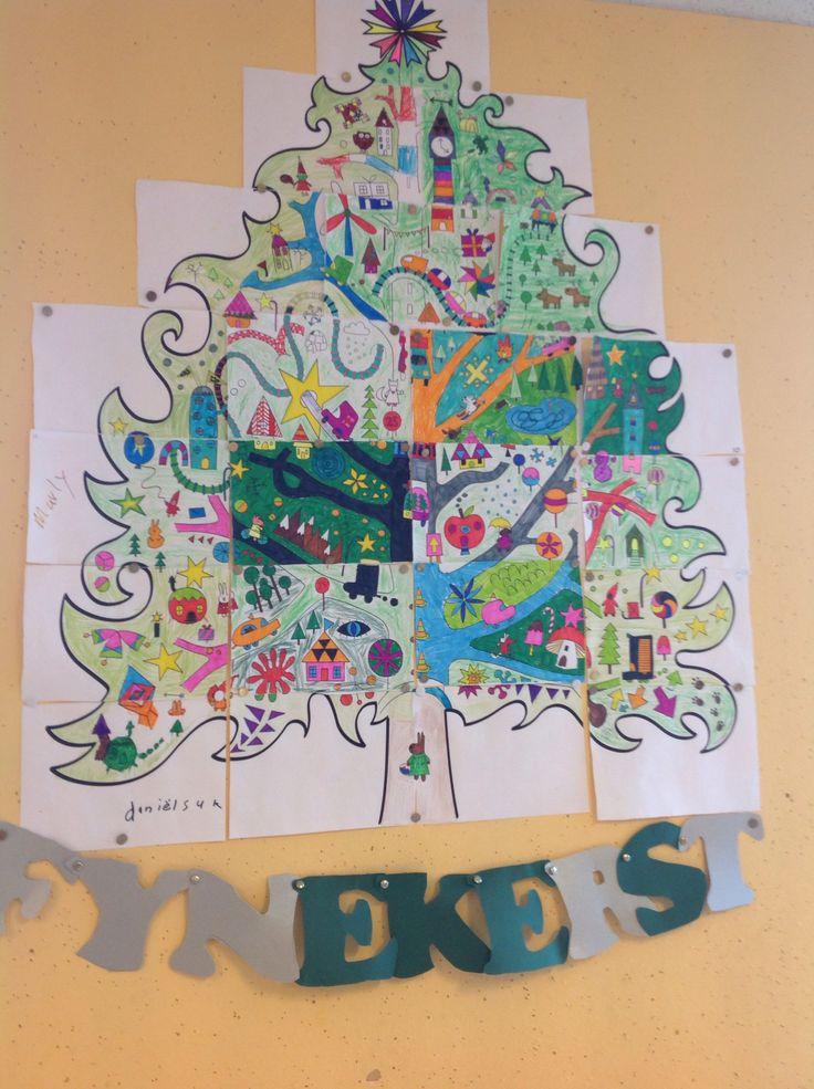 Groepswerk kerstboom