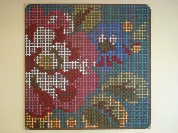'Monet goes Pixel' by Mia Hamilton, Wellington. Mixed media
