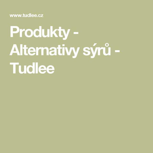 Produkty - Alternativy sýrů - Tudlee