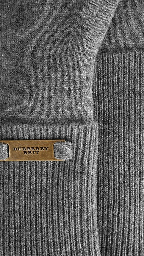 burberry grey knit