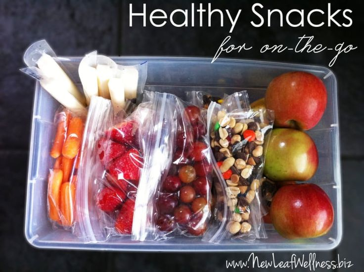 For your kids, for yourself, for everyone — grab a snack on your way out the door and have it with you for when you get peckish. See more great ideas here.