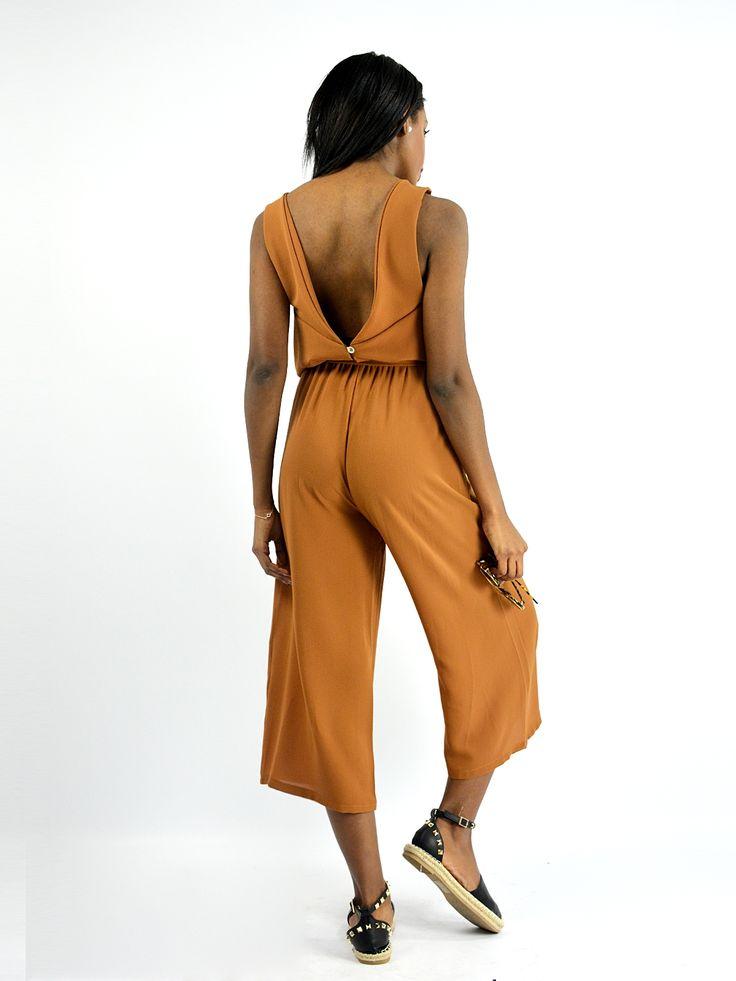 OLP6274 Ολόσωμη Ζιπ Κιλοτ με Ζώνη - Decoro - Γυναικεία ρούχα, ανδρικά ρούχα, παπούτσια