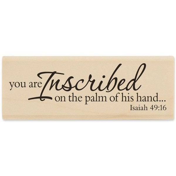 Palm of His Hand Rubber Stamp ($3.99) via PolyvoreShops Hobbies, Hobbies Lobbies, Isaiah 4916, 49 16 Stamps, Stamps 399, Stamps Size, Hands Rubber, Isaiah 49 16, Rubber Stamps