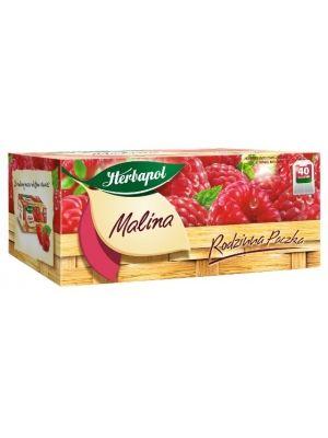 Herbata Rodzinna paczka Malina  • herbata owocowa, ekspresowa • smak malinowy • doskonale rozgrzewa  • opakowanie 40 torebek