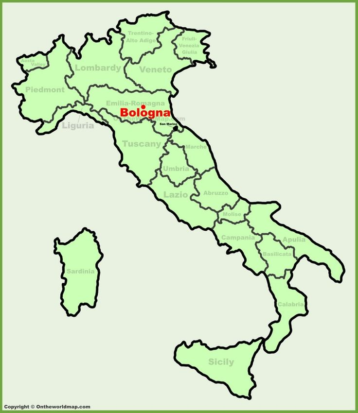 Bologna location on the Italy map