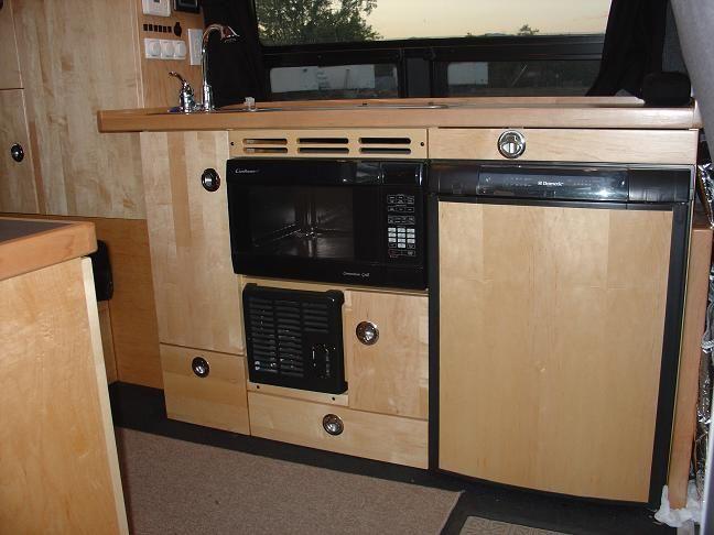 Sprinter rv diy sprinter rv conversion gallery camper for Campervan kitchen ideas