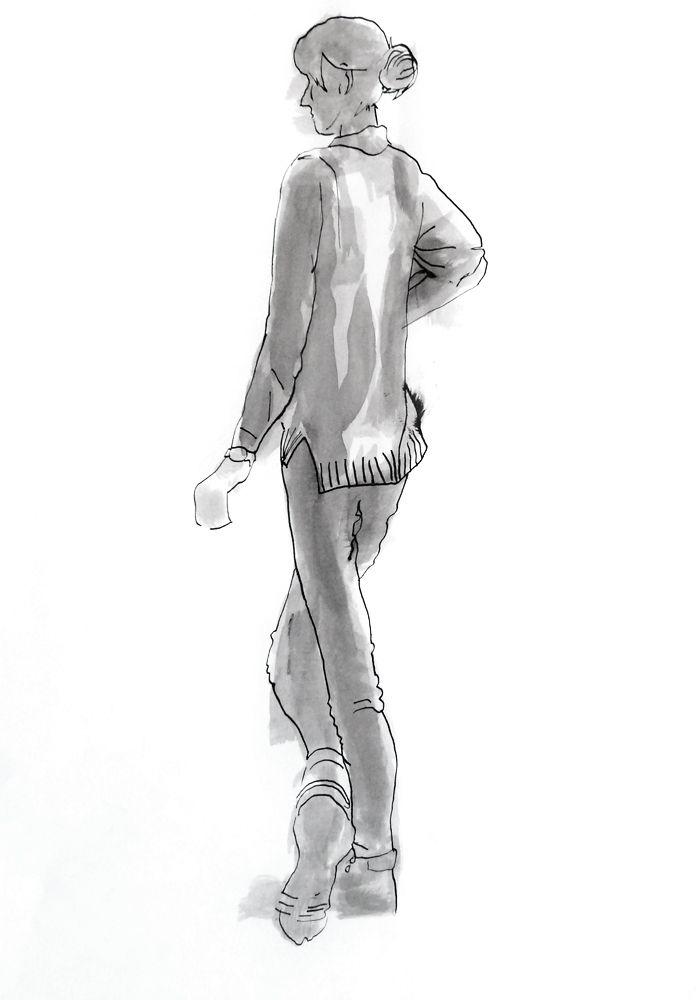 Jean Chiodi. Tinta-da-china s/ papel, 59,4 x 42 cm