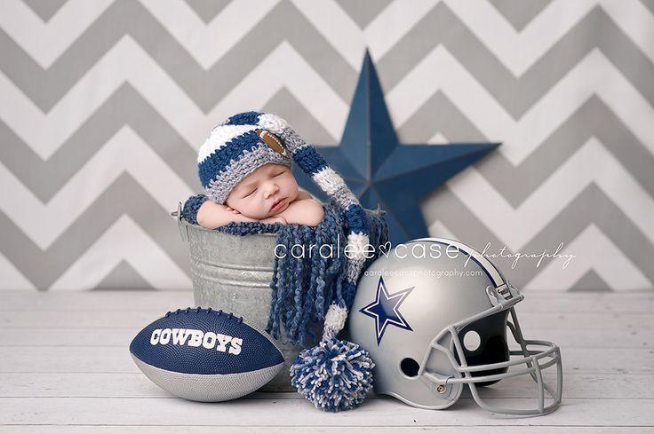 Future Dallas Cowboys Fan!!! Caralee Case Photography. Newborn Infant Baby Photographer.   FollowPics