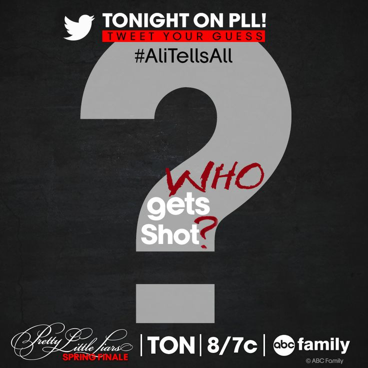Pretty Little Liars spring finale TONIGHT at 8/7c on ABC Family! #AliTellsAll