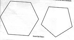 Pattern for soccer cakes