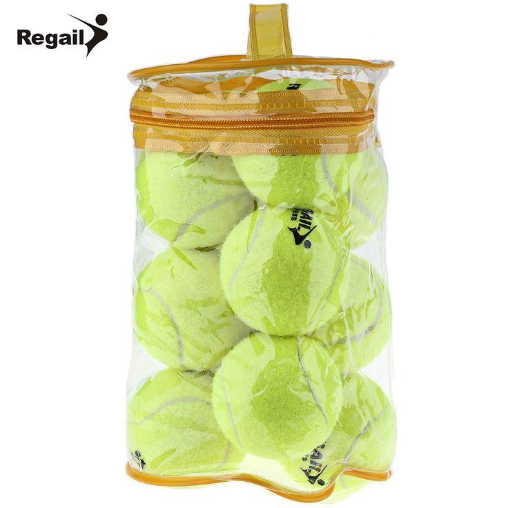 REGAIL 12pcs/set High Elasticity Tennis Training Ball High Quality Rubber Woolen Tennis Balls Sport Training