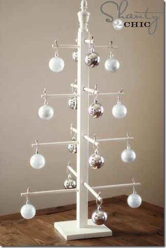 $10 DIY Wooden Ornament Tree I made one of these and it was fun and easy!  I made a few minor changes but it actually looks better than the photo shows it.