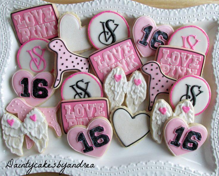 1 Dozen Victoria Secret inspired decorated cookies! by daintycakesbyandrea on Etsy https://www.etsy.com/listing/218362233/1-dozen-victoria-secret-inspired