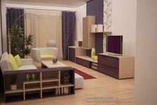 Design apartament mic in culori calde