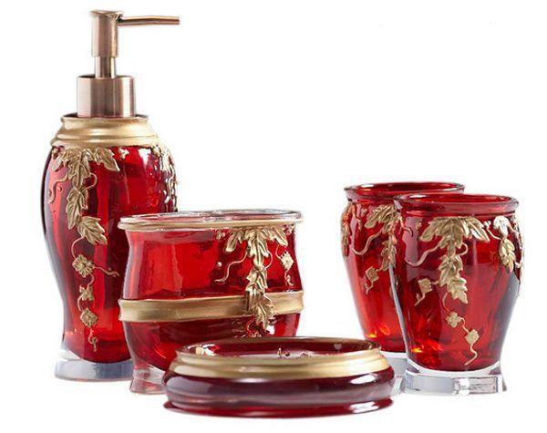 Red Bathroom Accessories To Brighten Up